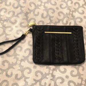 Steve Madden Black w/ Gold, Woven Wristlet / Bag.